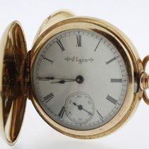 Elgin Ladies Pocket Watch solid 14 Karat Yellow Gold with...