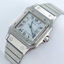 Cartier Santos Herren Uhr Stahl Datum Automatik Box Papiere