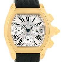 Cartier Roadster Chronograph Xl 18k Yellow Gold Mens Watch...