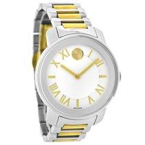Movado Bold Ladies White Dial Two Tone Swiss Quartz Watch 3600208