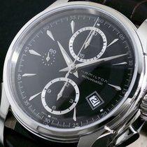 Hamilton 自動巻き 腕時計 スイス製 H32616533 ブラック/ダークブラウン