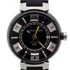 Louis Vuitton Black Steel GMT Automatic Watch Q113K0