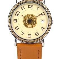 Hermès Sellier Or/acier Grand modèle