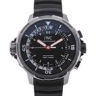IWC Aquatimer Deep Three Black Dial Rubber Strap Men's Watch