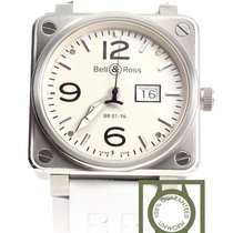 Bell & Ross BR01-96 Aviation Grande Date white 46mm NEW