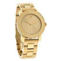 Movado Bold Ladies Gold Tone Bracelet Swiss Quartz Watch 3600085