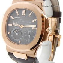 Patek Philippe Jumbo Nautilus 5712 18k Rose Gold Mens Box/Pape...