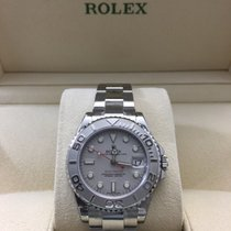 Rolex Yacht-Master Platinum Dial w/Box+Papers-168622