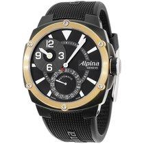 Alpina Black Dial Black Silicone Strap Men's Watch...