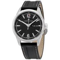 Hamilton Broadway Black Dial Leather Strap Men's Watch...