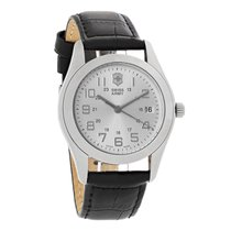 Victorinox Swiss Army Alliance Mens Black Leather Strap Swiss...