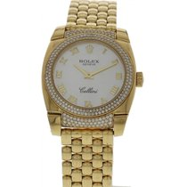 Rolex Ladies Rolex Cellini Cestello 18K Yellow Gold &...