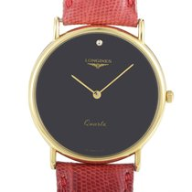 Longines Women's Yellow Gold Plated Stainless Steel Quartz...
