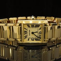 Cartier 18ct Yellow Gold Tank Francaise, Box & Papers