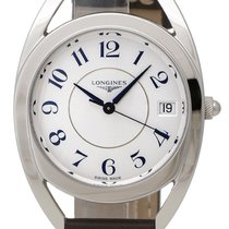 Longines Equestrian Stainless Steel Womens Strap Watch...