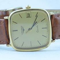 Longines Herren Uhr Vintage Quartz 34mm Vergoldet Rar Werk Defekt