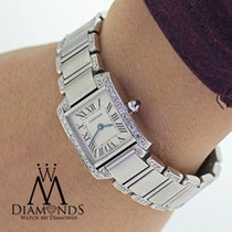 Cartier Ladies Cartier Tank W51008q3 With Natural Diamonds...