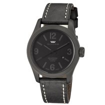 Glycine Incursore Black Dial Automatic Men's Leather Watch