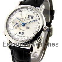 Ulysse Nardin 329-80 - Platinum on Strap with White Dial