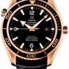 Omega Seamaster Planet Ocean Big Size Red Gold On Leather