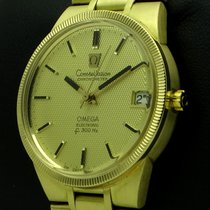 Omega Constellation Electronic f300Hz, 18 kt yellow gold, full...