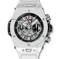 Hublot : 45mm Big Bang Unico White Ceramic Bracelet Watch