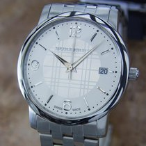 Burberry Swiss Made C2000 Mens Stainless Steel Quartz Bu1308...