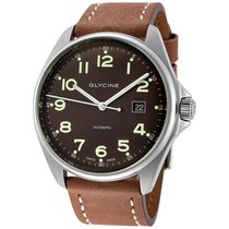 Glycine Combat 6 Dark Brown Dial Automatic Men's Leather...