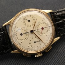 Universal Genève dato compax 18kt yellow gold cal. 285 vintage...