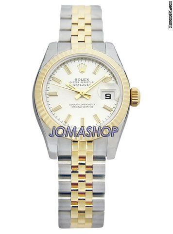 Rolex Datejust Silver Index Dial Jubilee Bracelet Two Tone Ladies Watch 179173SSJ