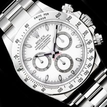 Rolex [NEW] Cosmograph Daytona Steel 116520 White Dial