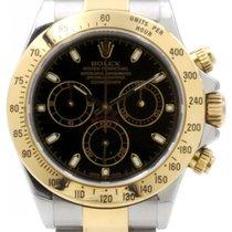 Rolex Cosmograph Daytona 116523 Black Chronograph Yellow Gold...