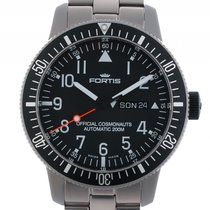 Fortis B-42 Official Cosmonauts Day Date Titan Automatik...