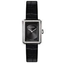 Chanel H4883 Black Dial 62 Diamonds Steel Ladies Watch