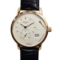 Glashütte Original New  Pano Reserve 18k Rose Gold Silver...