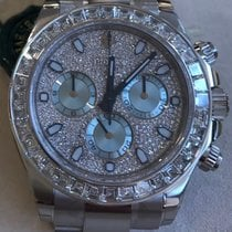 Rolex 116576 Daytona Platinum Full Diamonds ICE New
