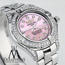 Breitling Metallic Pink Colt Oceane Stainless Steel Diamond...