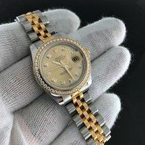 Rolex Datejust Two Tone 179383 Gold Diamond Dial/bezel...