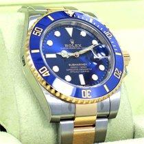Rolex Submariner 116613 Oyster 18k Yellow Gold /steel Blue...
