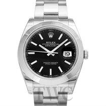 Rolex Datejust 41 Black/Steel 41mm Oyster - 126300
