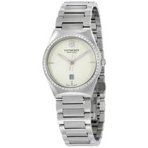Victorinox Swiss Army Victoria Stainless Steel Silver Dial...