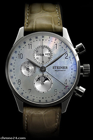 Steiner Limited Stainless steel pearl 42 mm- STM42ST