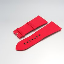 """Cartier Uhrenarmband """"Leder/Satin rot 29,20/ 22,35 mm""""..."""
