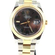 Rolex Date Just II Steel Yellow gold silver grey roman slate NEW