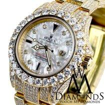 Rolex Diamond Rolex Watch Yacht-master 18k Yellow Gold 40mm...
