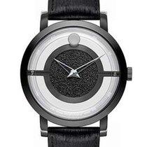 Movado Mens Translucent Museum Strap Watch - Black PVD Case -...