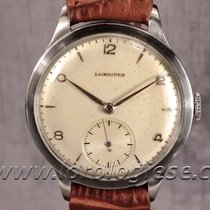 Longines Calatrava Classic Coin Edge Steel Watch Cal. 12.68z