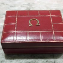 Omega vintage watch box leaather red olimpic games