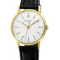Patek Philippe 3423  3423J - Yellow Gold on Strap with Silver...