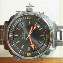 Zenith Super Sub Sea A3635 40mm Diver Steel Automatic Watch Mens